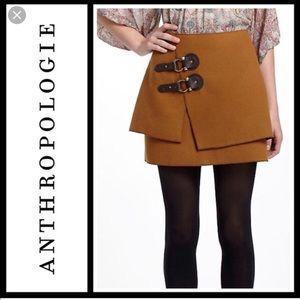 Anthropologie Meadow Rue Felt buckled skirt 12